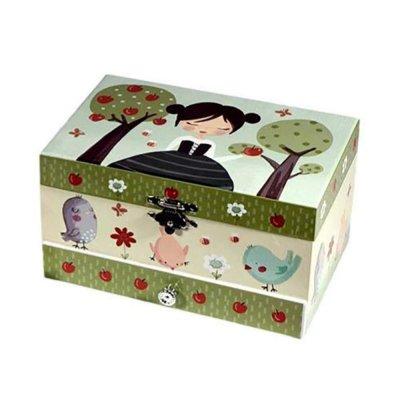 Μουσικό κουτί - Μπιζουτιέρα Snow white ορθογώνια