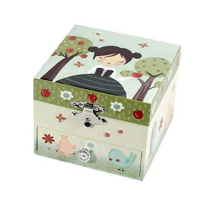Μουσικό κουτί - Μπιζουτιέρα Snow white τετράγωνη
