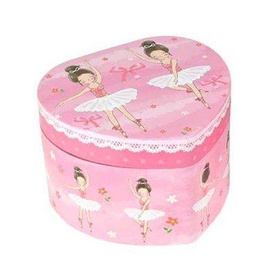 Μουσικό κουτί - Μπιζουτιέρα ballerina ροζ καρδιά