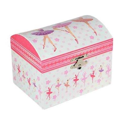 Μουσικό κουτί - Μπιζουτιέρα ballerina ροζ μπαουλάκι