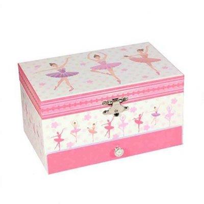 Μουσικό κουτί - Μπιζουτιέρα ballerina ροζ συρταράκι