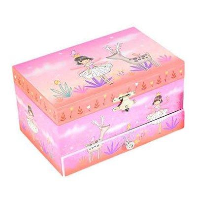 Μουσικό κουτί - Μπιζουτιέρα fairy ροζ ορθογώνια