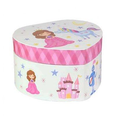 Μουσικό κουτί - Μπιζουτιέρα princess λευκή καρδιά
