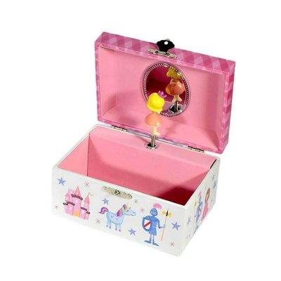 Μουσικό κουτί - Μπιζουτιέρα princess λευκή ορθογώνια