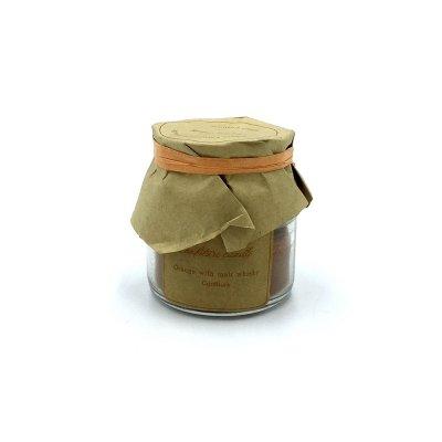 Αρωματικό κερί σε βαζάκι orange - whisky