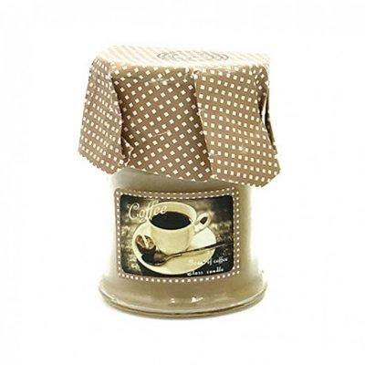 Αρωματικό κερί σε βαζάκι coffee - cinnamon