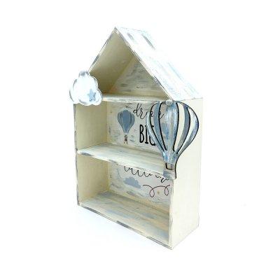 Κάδρο μινιατουροθήκη ξύλινο σπίτι σιελ αερόστατο