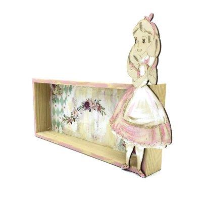 Χειροποίητο Κάδρο ξύλινο Αλίκη στη χώρα των θαυμάτων