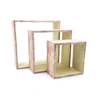 Κάδρα Διάτρητα ξύλινα σετ 3 τεμάχια