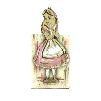 Χειροποίητη Μολυβοθήκη ξύλινη Αλίκη στη χώρα των θαυμάτων