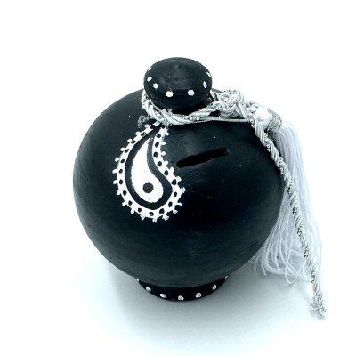 Κουμπαράς Κεραμικός μαύρος