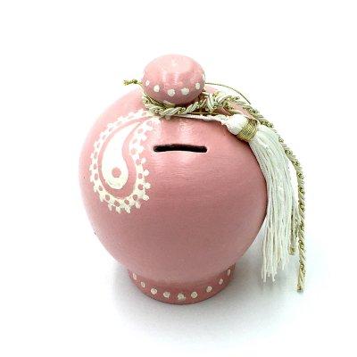 Κουμπαράς Κεραμικός ροζ