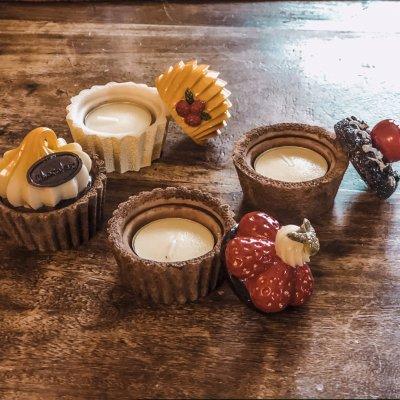 Cupcake κεραμικό για ρεσώ κεράσι - σοκολάτα