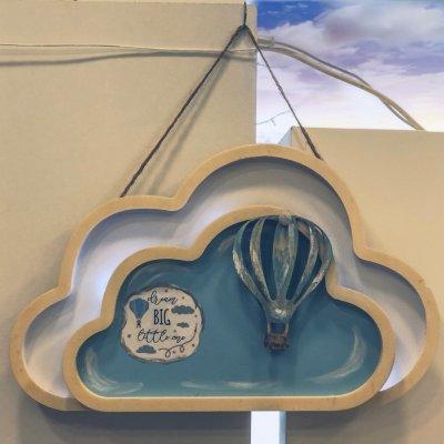 Κάδρο με φωτάκια led συννεφάκι αερόστατο