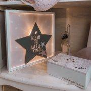 Καδράκι με φωτάκια LED ροζ αστέρι