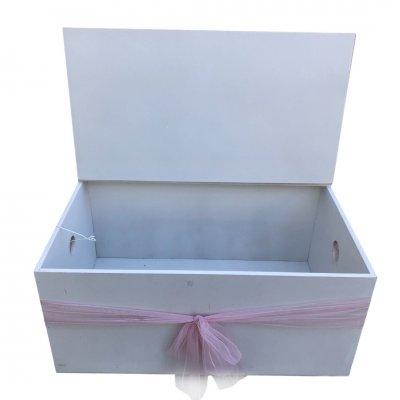 Κουτί Βάπτισης για κορίτσι Ποντικίνα - παγκάκι