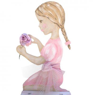 Κουτί Βάπτισης για κορίτσι Ροζ κοριτσάκι - καρέκλα