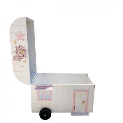 Κουτί Βάπτισης για κορίτσι Τροχόσπιτο
