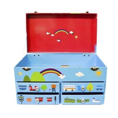 Μουσικό κουτί - Μπιζουτιέρα rainbow βαλιτσάκι